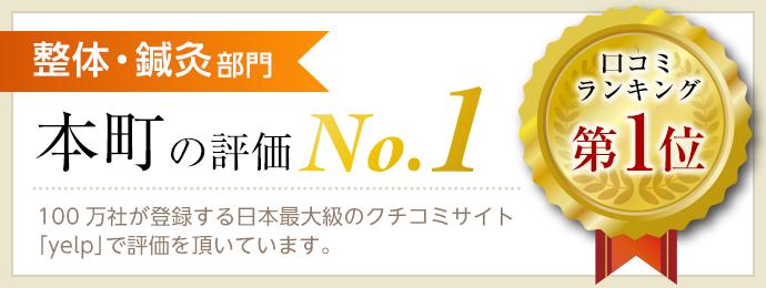 整体・鍼灸部門 本町の評価 No.1